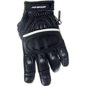 Mens Short Road Race Motorcycle Gloves   Black / Medium Automotive