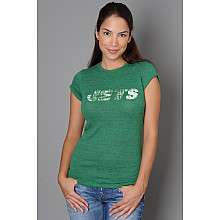 5th and Ocean New York Jets Womens Plus Size Short Sleeve Triblend T