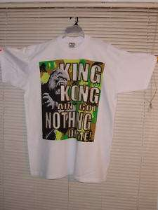 3X TALL KING KONG white T SHIRT HIP HOP HUSTLER GANGSTA