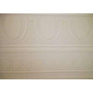 Antique Molding White Paintable Wallpaper Border:  Home