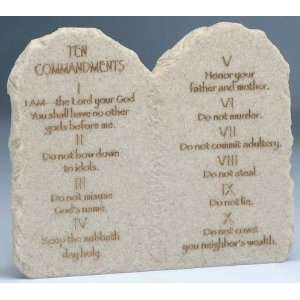 of 4 Stone Finish Ten Commandments Tablet Figures 6 Home & Kitchen
