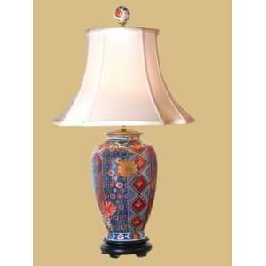 East Enterprises Gold Imari Vase Oriental Table Lamp With