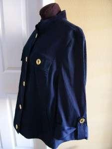 JONES NEW YORK SIGNATURE Navy Blue Stretch Cover Jacket Corduroy 3X