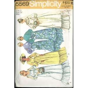 Vintage 1973 Simplicity Pattern 5569   Misses Wedding Dress