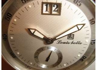 NEW LOUIS BOLLE AUTOMATIC BIG DATE STAINLESS STEEL WATCH $2999 MSRP