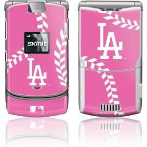 Los Angeles Dodgers Pink Game Ball skin for Motorola RAZR