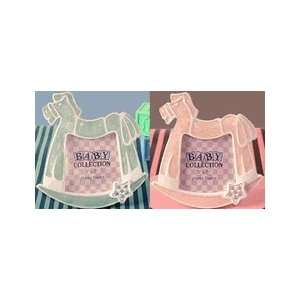 Adorable Blue/Pink Rocking Horse photo frame:  Home