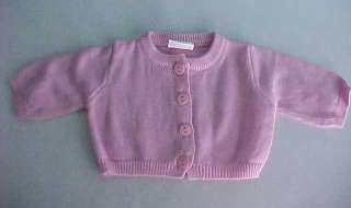 PINK CARDIGAN SWEATER fits Chatty Cathy & American Girl Dolls