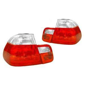 BMW E46 3 Series 4 Door Red/Clear Tail Light   4 Pieces Automotive