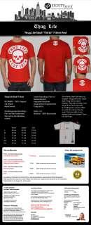 NEU Thug Life T Shirt Skull Tee EST.187 rot red Totenkopf