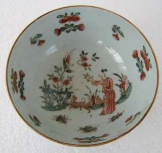 CHINESE ANTIQUE 19th C FAMILLE ROSE PORCELAIN BOWL