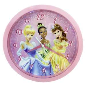10 Wall Clock Home Decor Cinderella Tiana Belle