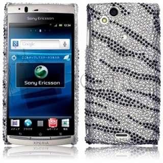 Carcasa tipo diamantes para Sony Ericsson Xperia ARC X12 modelo Cebra.