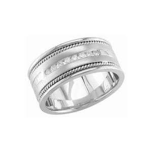14K White Gold Diamond Wedding Band 0.32 TCW Jewelry