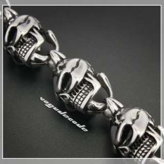18 ~ 36 Huge & Heavy 316L Stainless Steel Skull Mens Biker Necklace