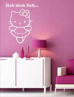 Wandtattoo Wandaufkleber Hello Kitty Kinder Kinderzimmer Wandsticker