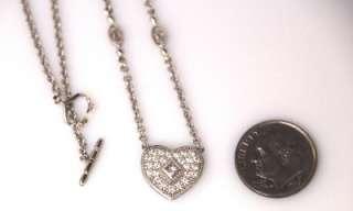 PHILIPPE CHARRIOL 18K White Gold Diamond Heart Pendant & Necklace