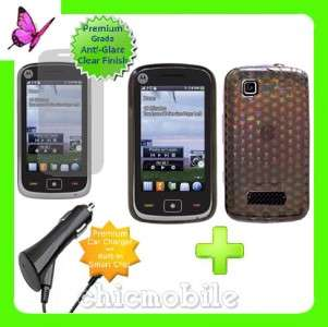 Charger + Screen + SM Case Cover NET 10 MOTOROLA EX124G