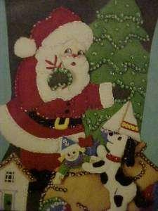 1991 Bucilla Santas Gifts Christmas Stocking Kit