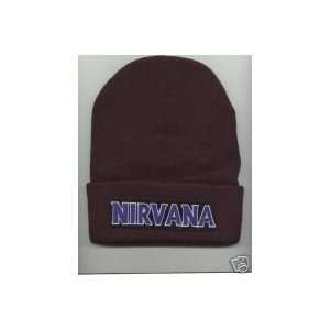 NIRVANA Beanie HAT SKI Skull CAP Black Blue Brown NEW