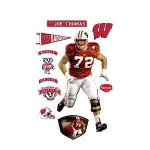 NCAA Wisconsin Badgers Joe Thomas Wall Graphic Sports