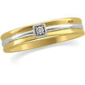 Gents .05Ct 14K Yellow/White Gold Two Tone Bridal Duo