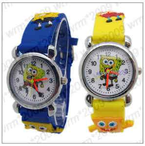 1pcs SpongeBob Squarepants Childrens watch,Xmas Gift