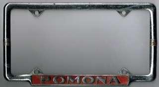 Pomona California City GANG Vintage Dealer License Plate Frame