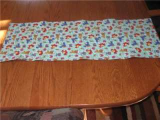 Handcrafted quilted Table Runner Elmo Sesame Street Room Decor