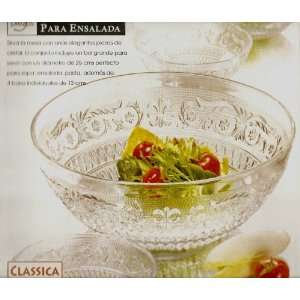 Classica Glass Salad Bowl Set, 5 Pieces Kitchen & Dining