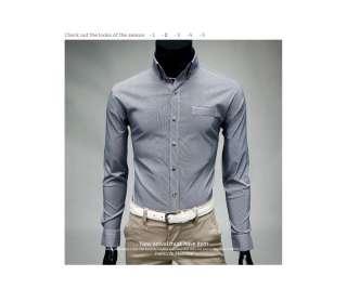 Bros Mens Premium DRESS Button Down Stripe BLUE Slim Shirts SZ S,M,L