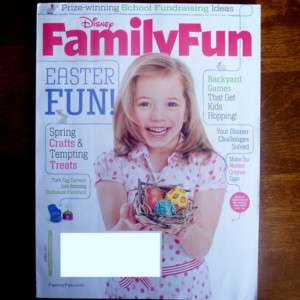 Disney Family Fun April 2011 Easter Kids Magazine