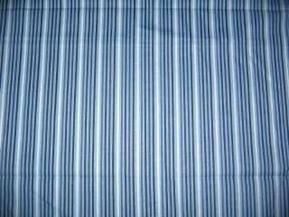 Blue black white stripe stripes window Valance Curtain