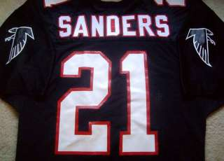 AUTHENTIC DEION SANDERS ATLANTA FALCONS NFL RUSSELL JERSEY 44 VTG