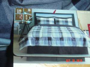 Mossimo Supply 8 Complete Bed Set Blue Plaid QUEEN NEW
