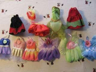 barbie sister Kelly doll clothes 6 dresses NEW A