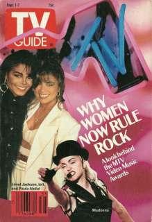 Madonna, Janet Jackson, Paula Abdul   1990 TV Guide
