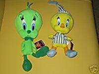 LOT OF 2 WB LOONEY TUNES TWEETY BIRD PLUSH