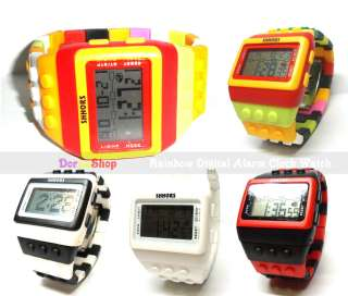 Digital Alarm Clock Sports Watch for kid boy girl Gift *Zebra