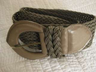 Womens Taupe Color Braided Belt Size M New