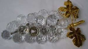 SWAROVSKI crystal figurine GRAPES gold leaves rhodium