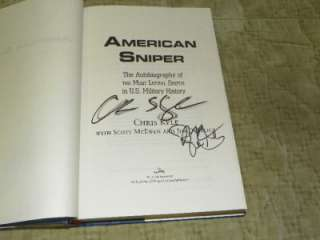 American Sniper by Navy Seal Chris Kyle Signed 1st Ed. ERROR BOOK