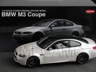 18 Kyosho BMW e92 M3 Coupe White Black Rim Carbon Roof 08736W Free