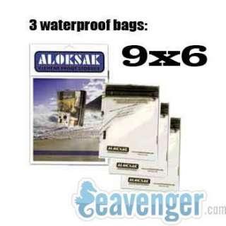 ALOKSAK 9 X 6 AIRTIGHT WATERPROOF POUCH CLEAR DRY BAG