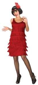 WOMENS 20S FLAPPER RED DRESS COSTUME LF5076