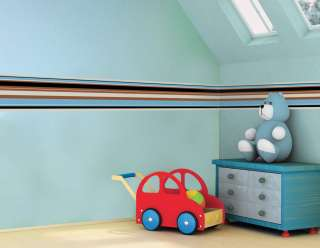 Paul Frank Julius Blue Stripes Wall Borders Wallpaper Decals Children