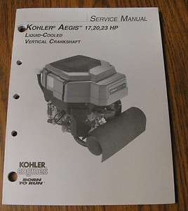 17 thru 23HP Vertical Crankshaft Engine Service Repair Manual