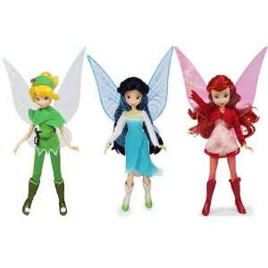 Puppen im Set Disney Fairies TINKERBELL SILBERHAUCH ROSETTA 23cm