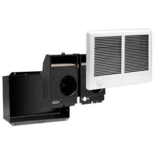 12 in. 3,000 Watt 240 Volt Fan Forced In Wall Electric Heater White