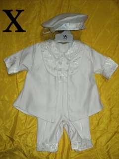 Baby Boy Christening Baptism white Suit Outfit/Xa/Sz 3M,6M,12M,18M,24M